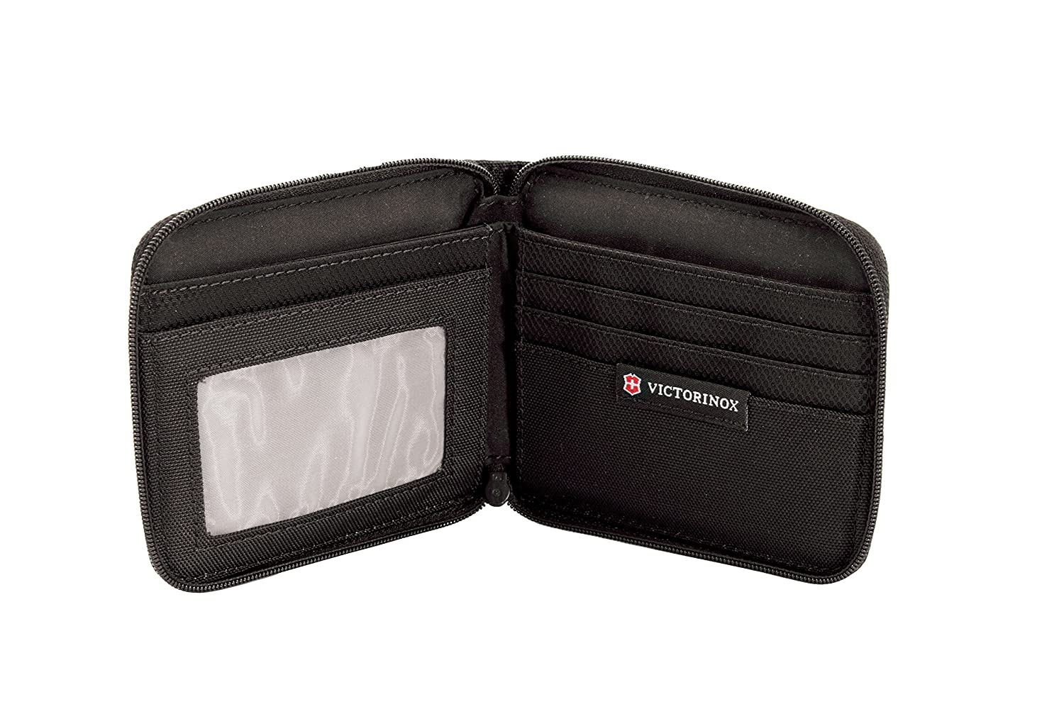 1c274f5e0c Amazon.com: Victorinox Zip-Around Wallet, Black Logo