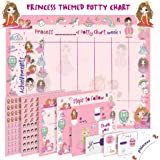Potty Training Chart for Toddlers – Princess Design - Sticker Chart, 4 Week Reward Chart, Certificate, Instruction…