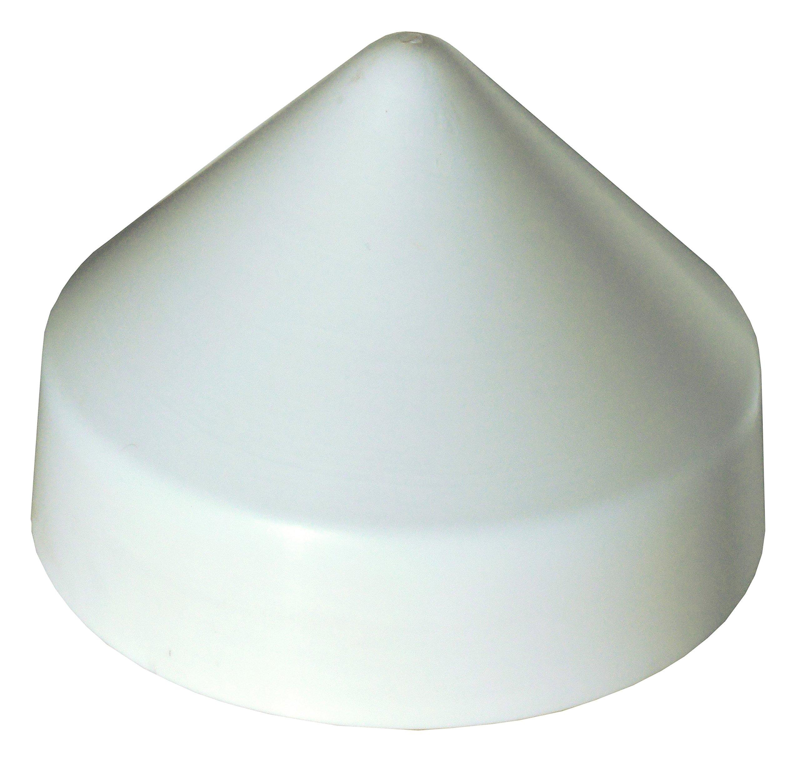 Dock Edge PVC Cone Head Piling Cap, 10-Inch, White