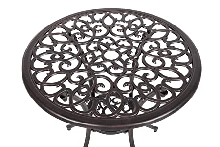 Patio Sense 61490 Arria Bistro Set, Antique Bronze