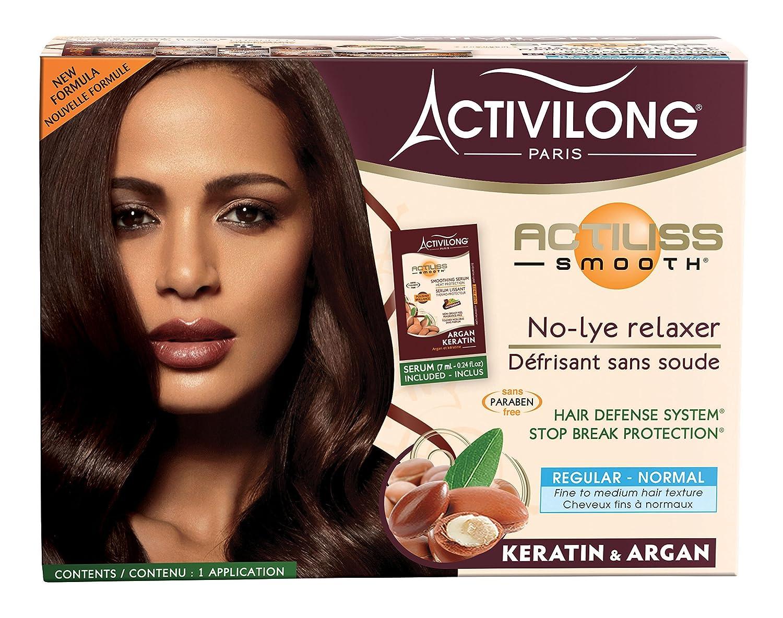 "Activilong - Lisciante ""Actiliss"", per capelli normali, senza carbonato di sodio, con argan e cheratina"