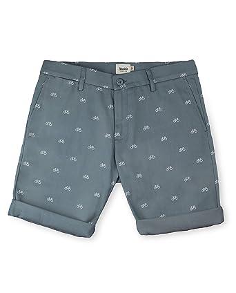9ef5d12ce9a01 Brava Fabrics - Bermudas Hombre con Estampado - Pantalones Cortos Chinos para  Hombre - Bermudas Casual - 100% Algodón - Gris - Modelo Fixed Gear Rider   ...