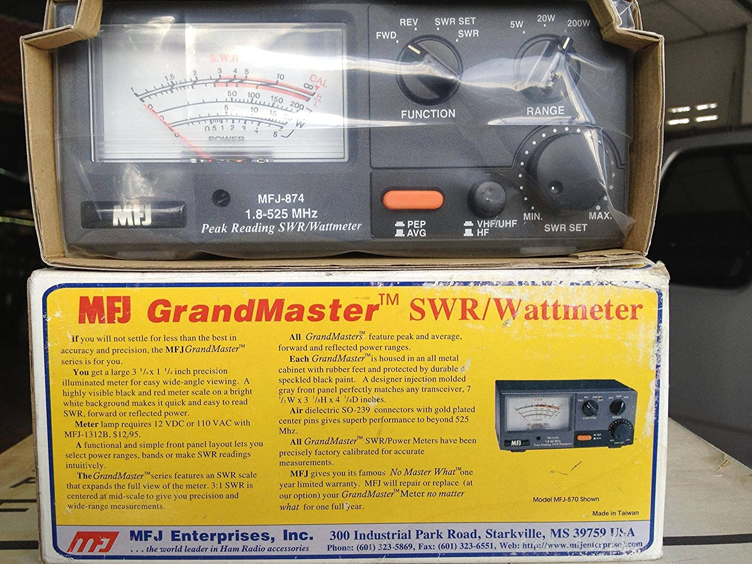 Rf Power Swr Meter For 18 525mhz Hf Vhf Uhf 0 500mhz Pic16f876 200w Cell Phones Accessories