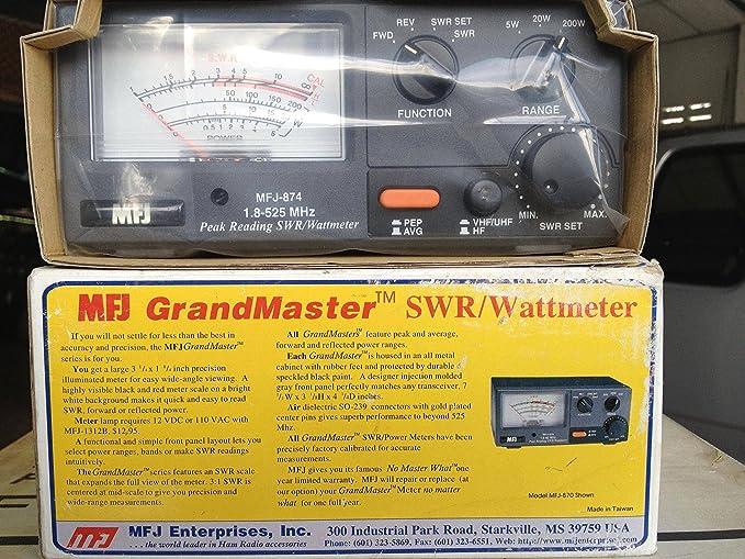 amazon com rf power swr meter for 1 8 525mhz hf vhf uhf