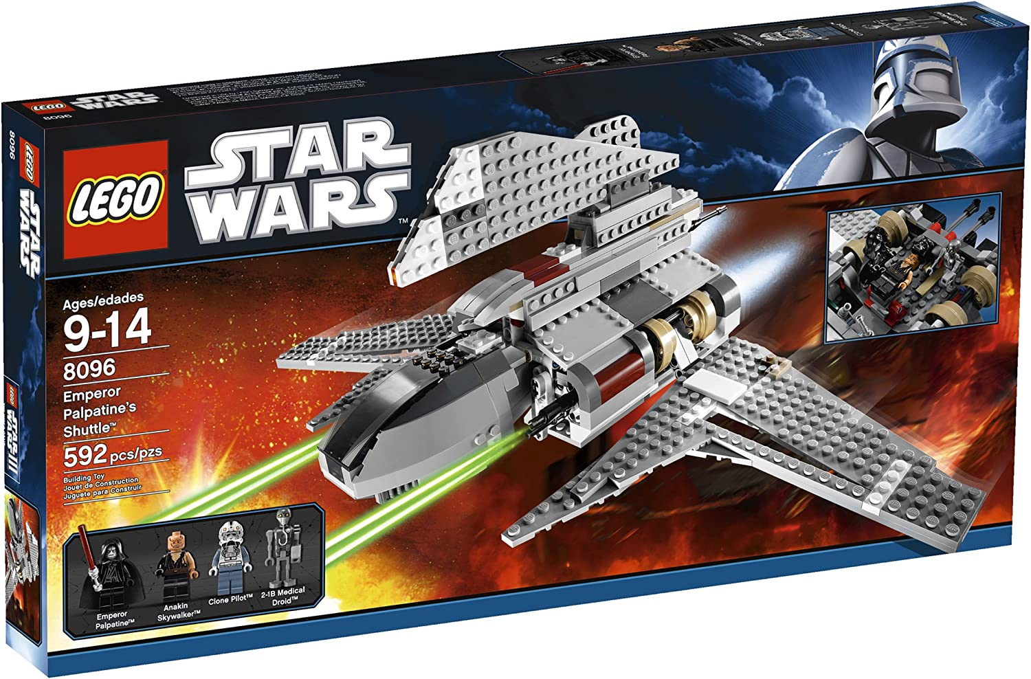 Amazon Com Lego Star Wars Emperor Palpatine S Shuttle 8096 Toys Games