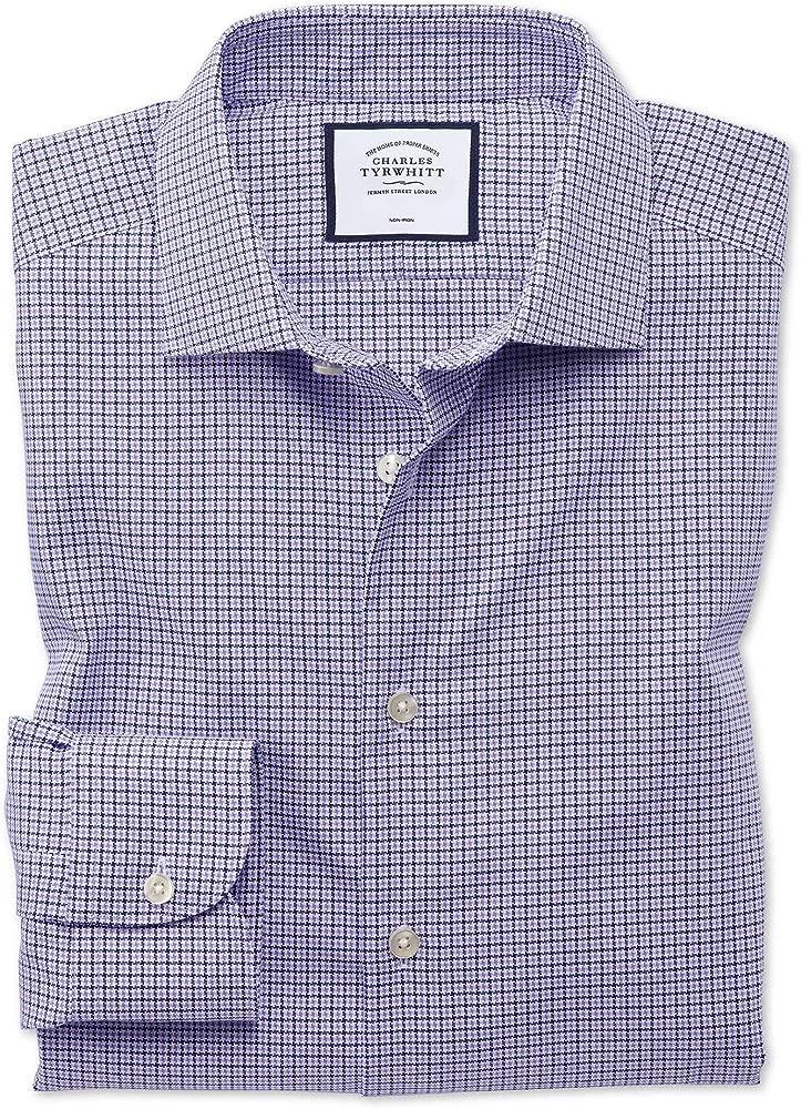 Charles Tyrwhitt Camisa Business Casual Lila de Corte clásico sin ...
