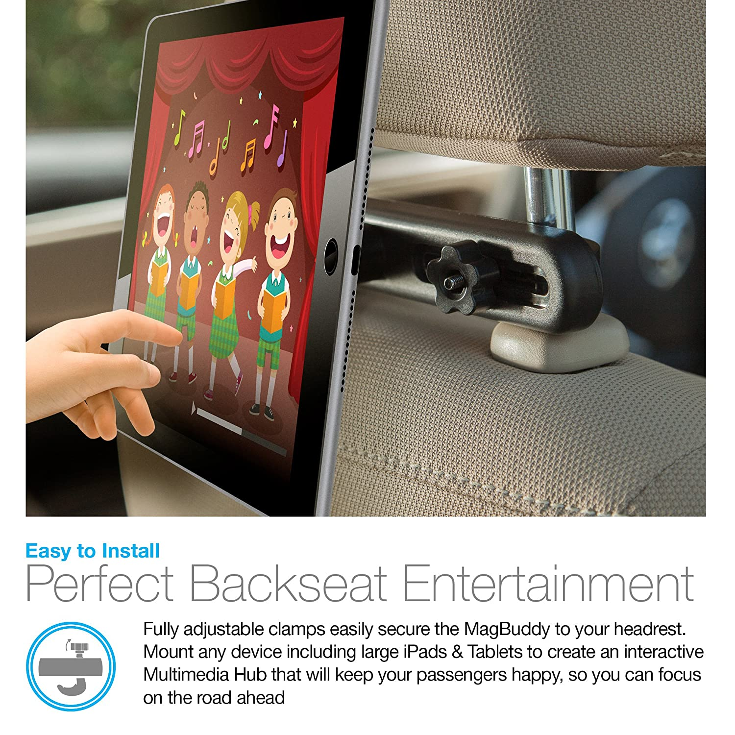 Perfect Backseat Entertainment, Insta-Lock Technology, Fully Adjustable Compatible for Smartphones/Tablets / eReaders/iPads + Other Devices: Cell Phones & ...