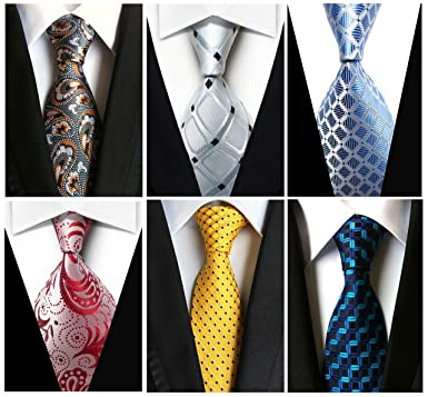 Wehug lot 6 pcs mens ties silk tie woven necktie jacquard neck ties wehug lot 6 pcs mens ties silk tie woven necktie jacquard neck ties classic ties for ccuart Image collections