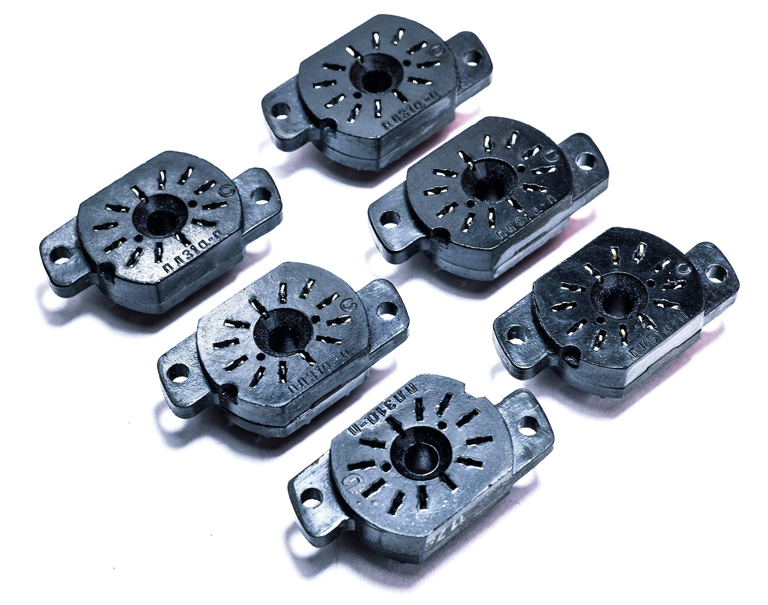 Socket for Nixie Tubes IN-12A, IN-12B, IN-15A, IN-15B, IV-22, New 6 pcs