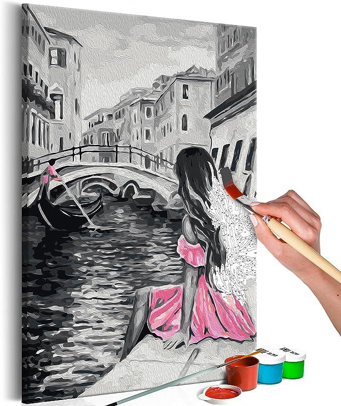 Malset mit Holzrahmen 40x60 Leinwand Erwachsene Gemälde Kit DIY n-A-0221-d-a