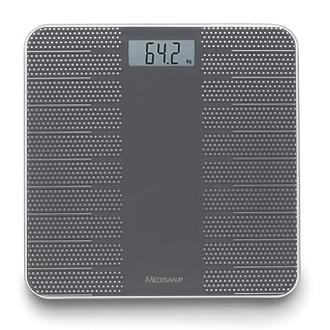 Medisana PS430 40458, Báscula Digital de Baño, con moderno diseno y superficie antideslizante,