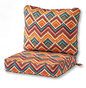Greendale Home Fashions AZ7820-SURREAL Aztec Outdoor 2-Piece Deep Seat Cushion Set