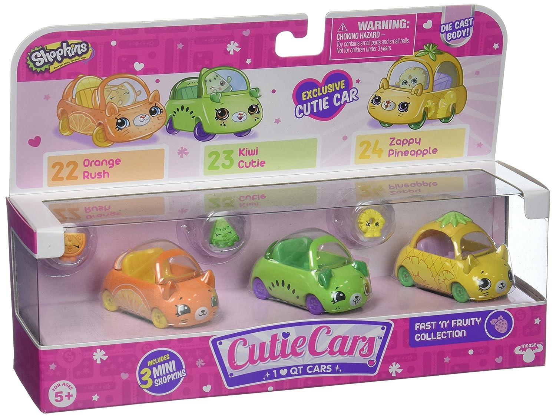 Cutie Cars Shopkins S1 3pk - Fast 'N' Fruity Moose Toys 56642