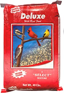 Valley Farms Deluxe Blend Wild Bird Food - A Select Bird Seed Value - 40 LBS