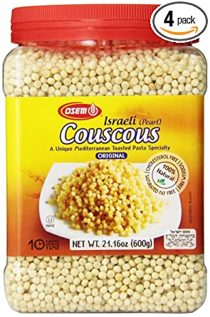 Amazon Com Osem Israeli Couscous Canister 21 Ounces Pack Of4 Dried Couscous Grocery Gourmet Food