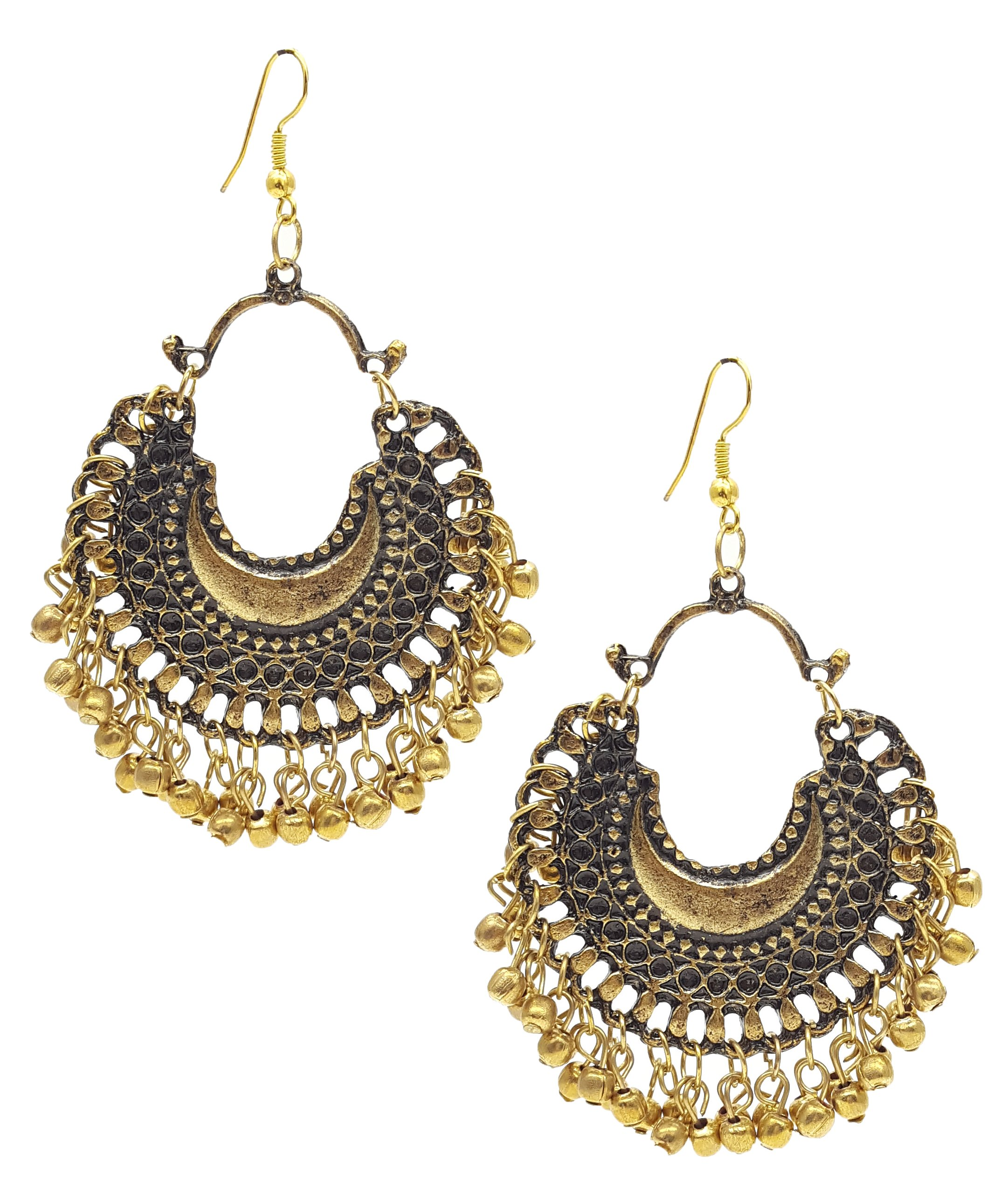 YouBella Jewellery Summer Special Stylish Oxidised Afghani Tribal Fancy Party Wear Earrings for Girls and Women