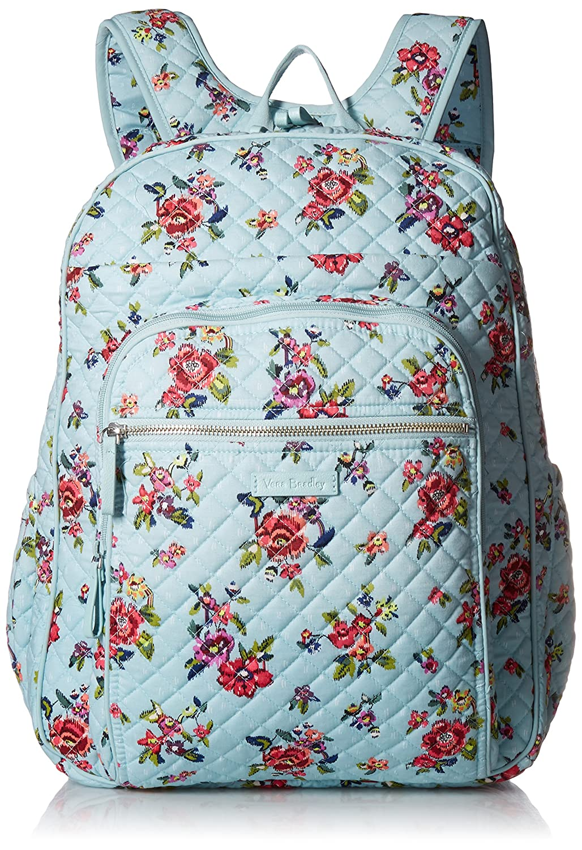 Amazon.com: Vera Bradley Iconic XL Campus Backpack, Signature Cotton ...