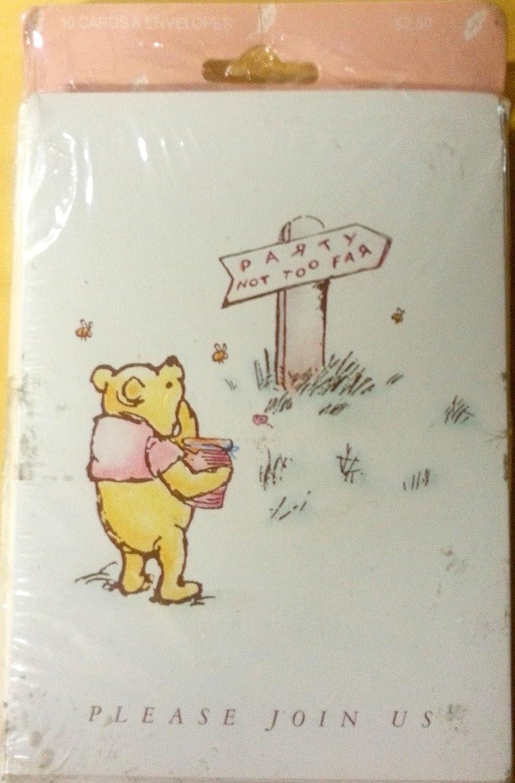 Amazon Com Winnie Pooh Clásico Invitaciones A Fiesta
