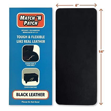 Amazon.com: Parche de reparación de cuero negro realista ...