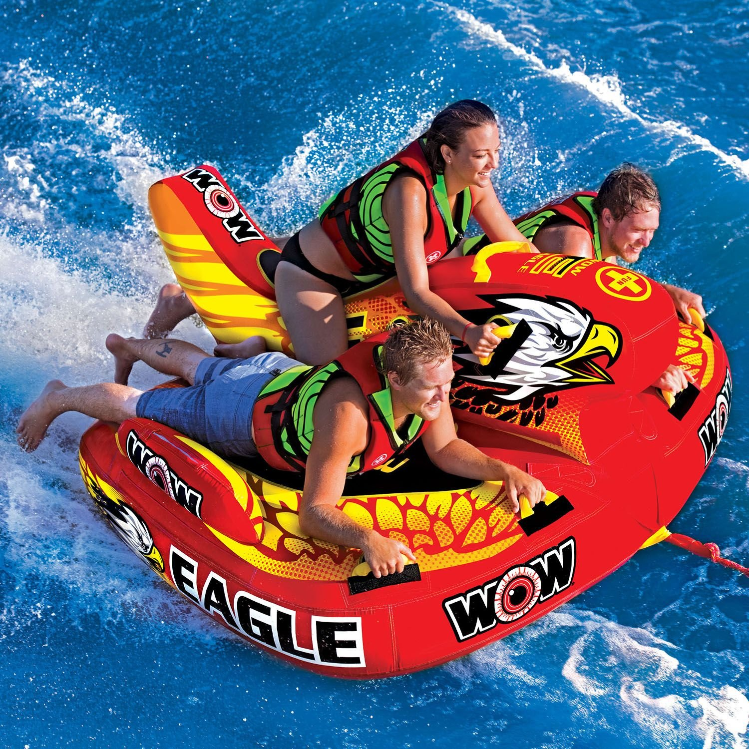 Amazon WOW Eagle Inflatable Towable Tube Lake Water Raft