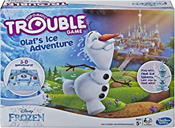 Hasbro Gaming Trouble Game Olaf's Ice Adventure