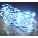 Festive Productions 20L LED Naked Silver Wire Lights, White