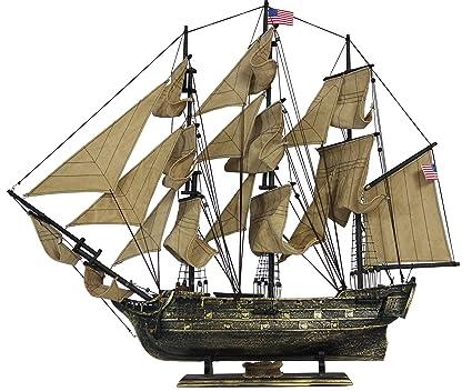 Amazoncom Davyarts Nautical Decor Wooden Ship Models Tall Model