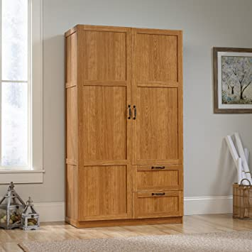 Amazon.com: Sauder Large Storage Cabinet, Highland Oak: Kitchen & Dining