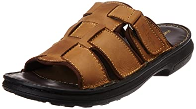 9a1c9f47bd6b Hush Puppies Men s Rockford Gold Leather Flip Flops Thong Sandals - 10  UK India (