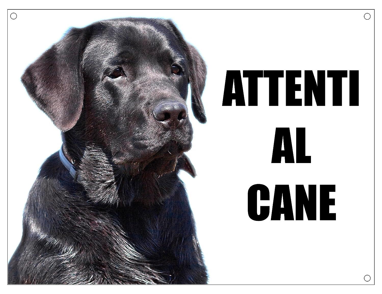 20X30 LABRADOR attenti al cane mod 1 TARGA cartello IN METALLO