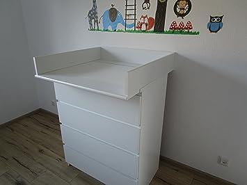 Wickelaufsatz Fur Ikea Malm Weiss Abgerundet 13 Cm Amazon De Baby