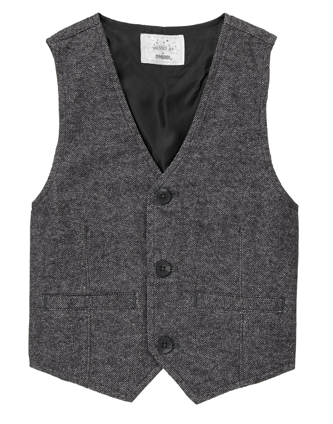 Gymboree Boys' Tweed Button up Vest, Castlerock, M