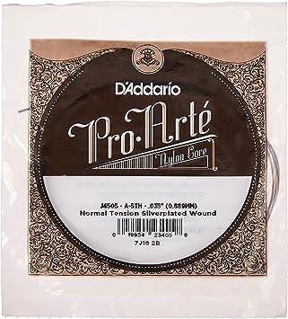 DAddario J4505 Pro-Arte, cuerda individual de nailon para guitarra clásica, tensión normal, quinta cuerda: Amazon.es: Instrumentos musicales