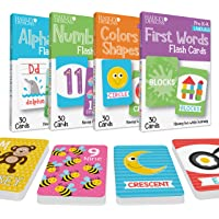 120 Flash Cards For Toddlers 2-4 Years, ABC Alphabet Letters, Colors & Shapes, 1-100 Math Numbers, First Sight Words for…