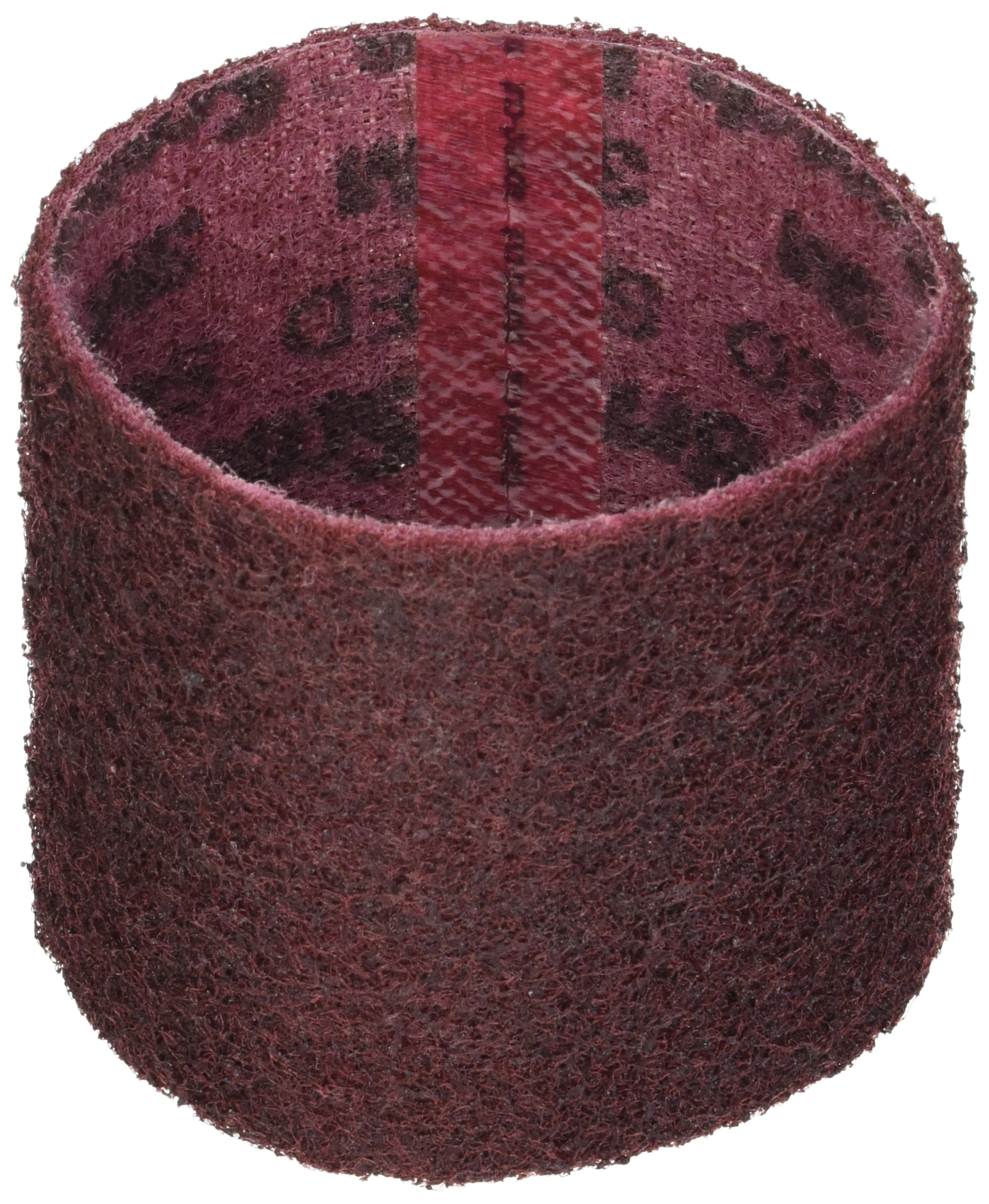 CS Unitec 42011 PTX Fleece Nonwoven Sleeve, Medium, 3-1/2'' Diameter x 4'' Wide, Red, (Pack of 5)
