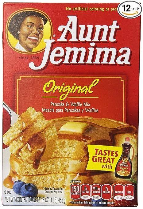 Amazon.com : Aunt Jemima Pancake & Waffle Mix, Original, 16-Ounce (Pack of 12) : Pancake And Waffle Mixes : Grocery & Gourmet Food