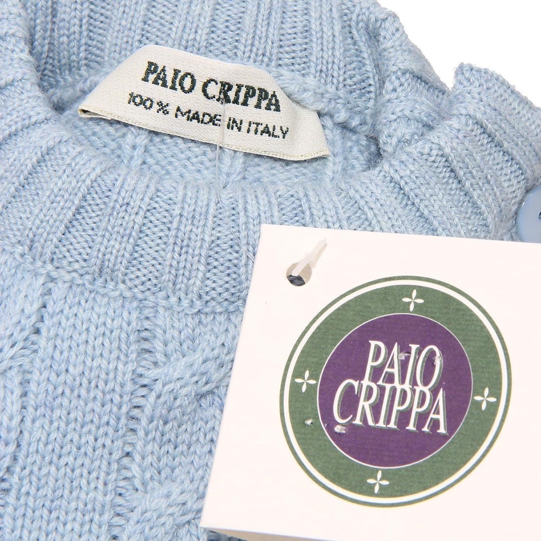 2885V vestito bimba blu PAIO CRIPPA abito wool dress kid girl