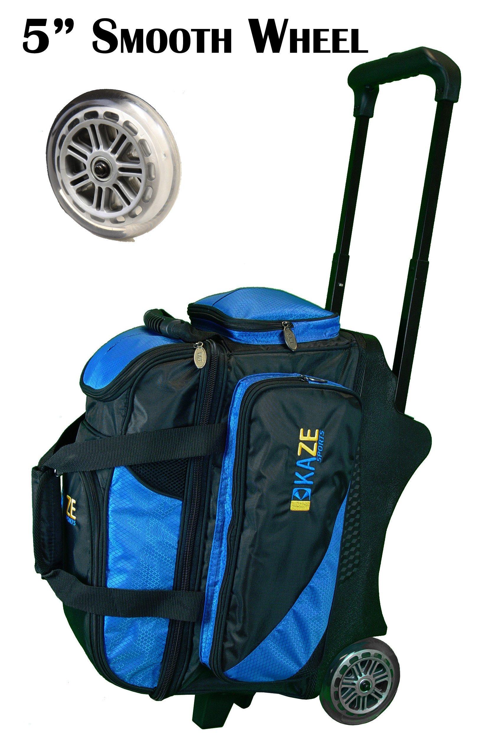 KAZE SPORTS 2 Ball Bowling Roller, Blue/Black