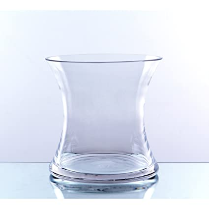 Amazon Wgv Clear Short Hurricane Concaved Glass Vase 7 Inch
