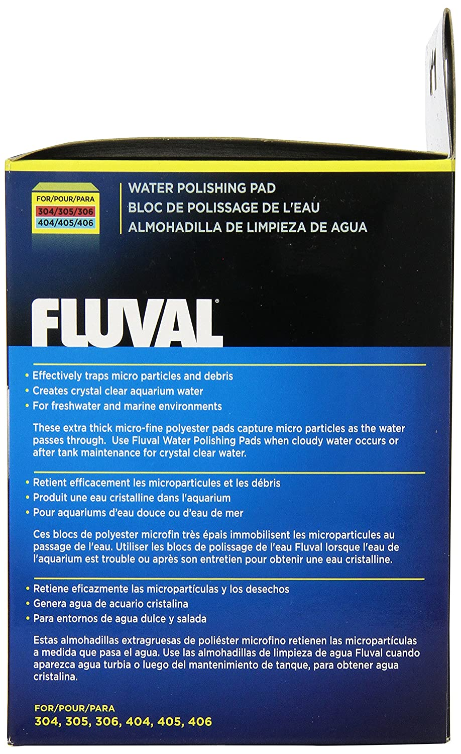 fluval water polishing pad for 305 406 6 pieces amazon co uk pet