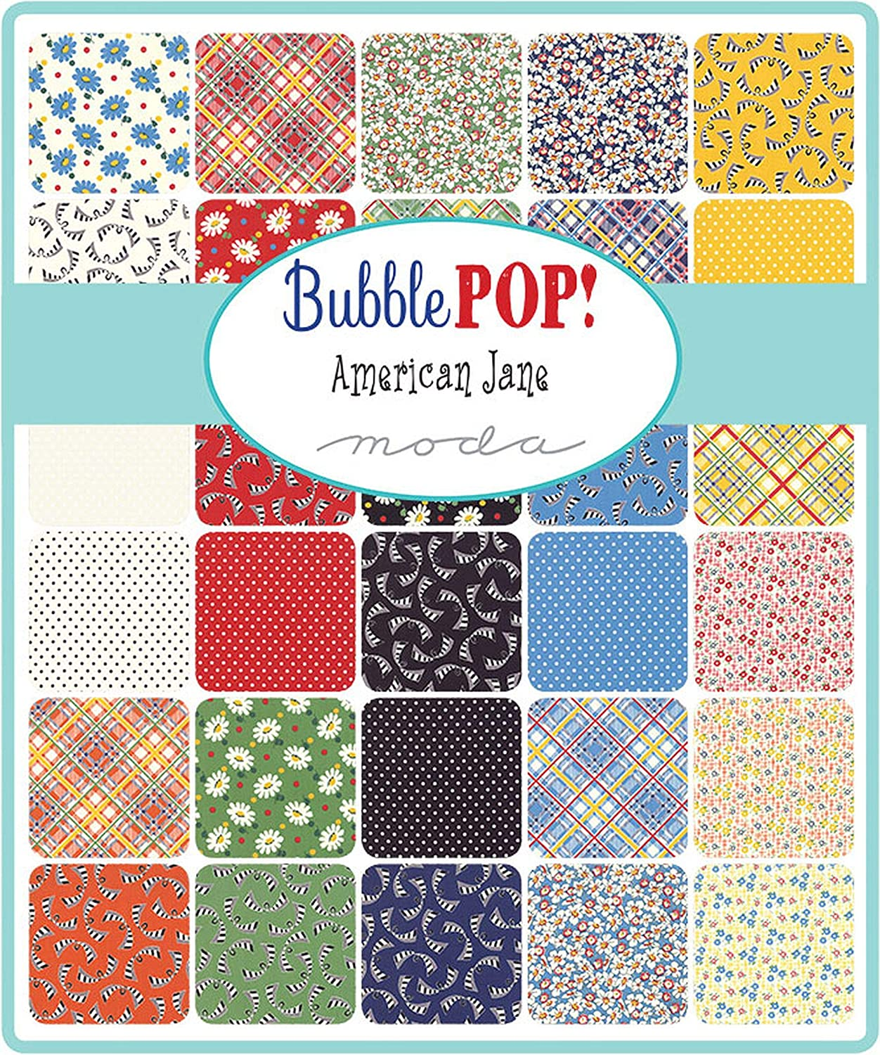 Bubble Pop Mini Charm Pack by American Jane; 42-2.5 Precut Fabric Quilt Squares