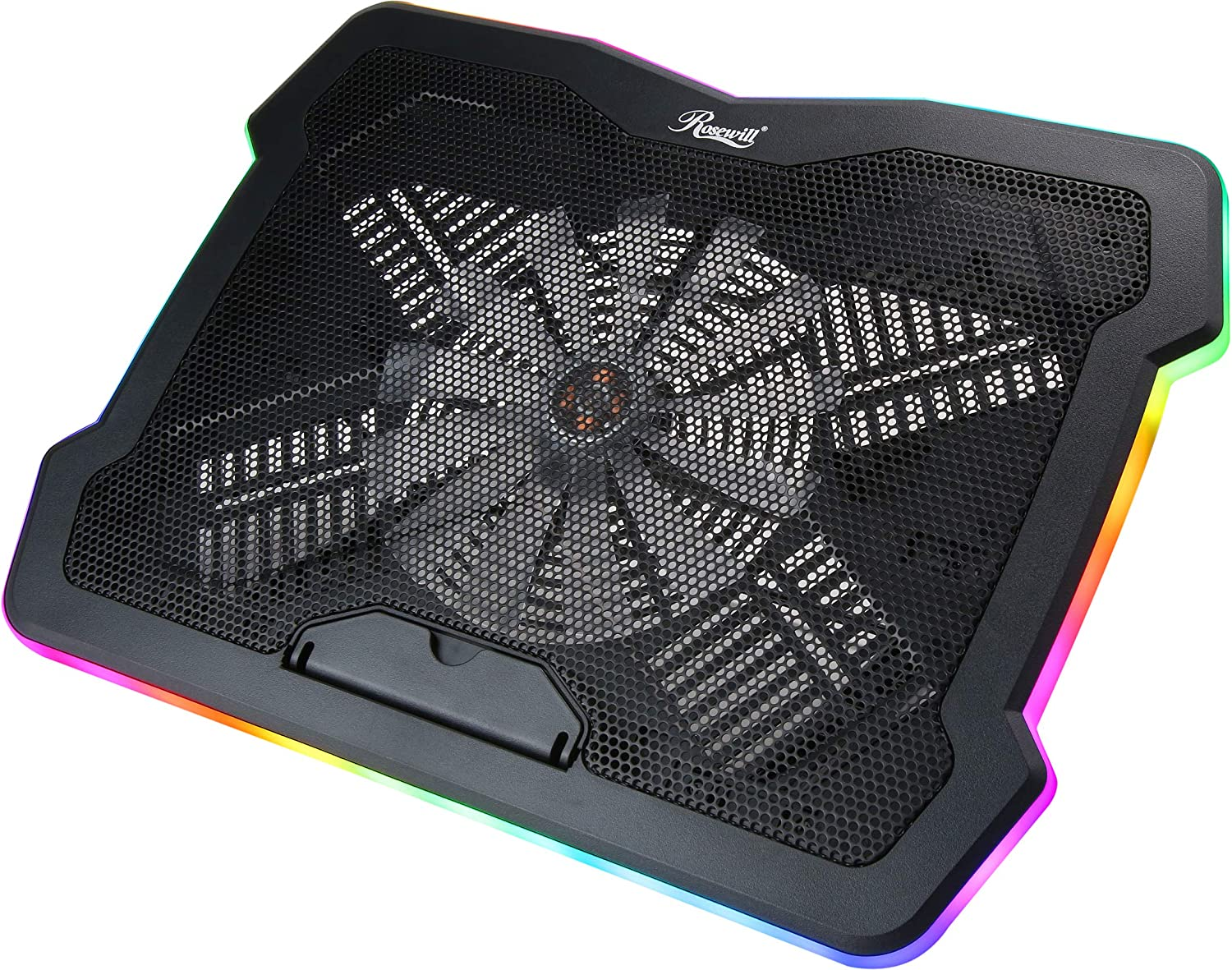 Rosewill RWNB17B 17 inches RGB Gaming Laptop Cooler with Big Quiet Fan. Adjustable Color/Lighting/Fan Speed Modes
