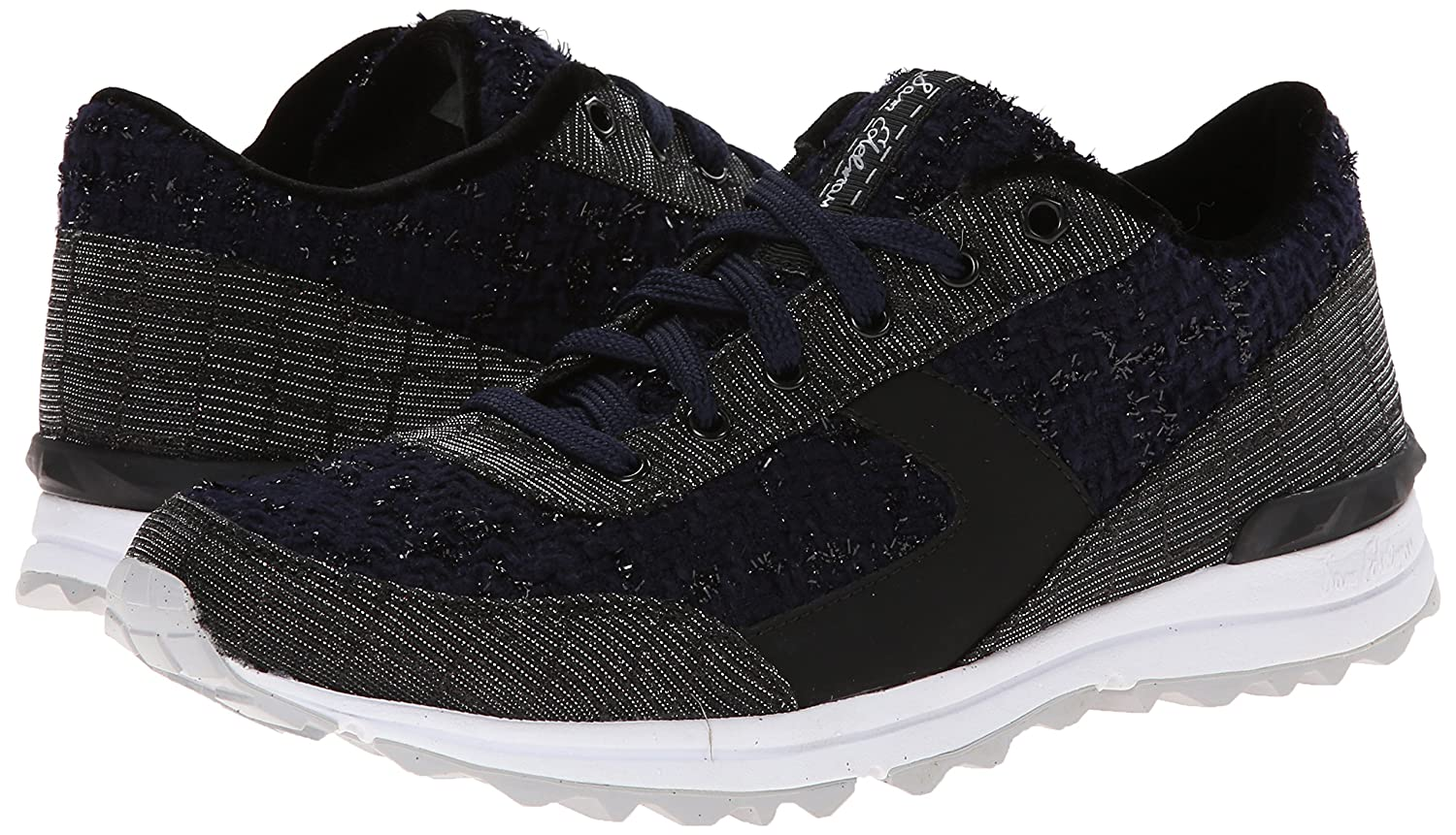 9c654a609e78f3 Sam Edelman Women s Dax Fashion Sneaker Black Navy Boucle 6.5 B(M) US  Buy  Online at Low Prices in India - Amazon.in