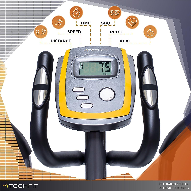 TechFit E400 Cross Trainer, Bicicleta elíptica para el hogar, Máquina de Cardio para Ejercicios de Fitness, Dispositivo de Resistencia magnética Apta para ...