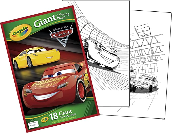 Amazon Crayola Cars 3 Giant Coloring Pages Toys Games