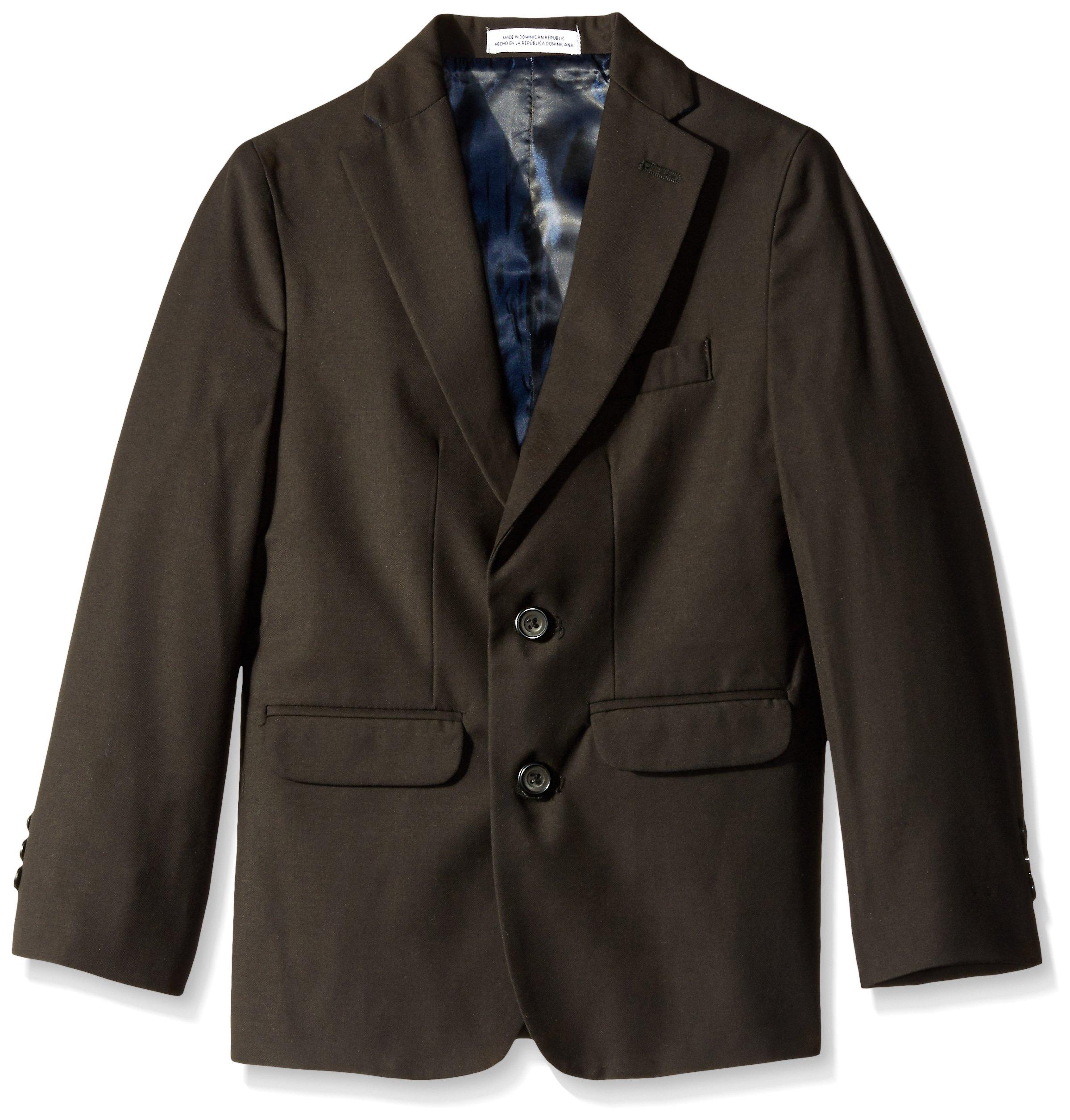 IZOD Big Boys' Solid Fine Line Jacket, Black, 20
