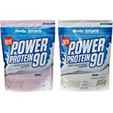 Body Attack Power Protein 90 Beutel 2er Mix Pack (2 x 500 g) Vanille/Strawberry White Chocolate, 1er Pack (1 x 1 kg)