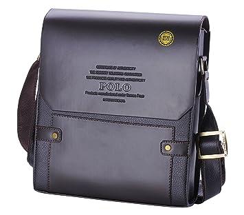 668219735c33 Videng Polo Men s Leather RFID Blocking Secure Briefcase Shoulder Messenger  Bags