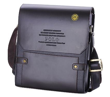 videng Polo® Nueva hombre cuero RFID bloqueo seguro maletín hombro ...