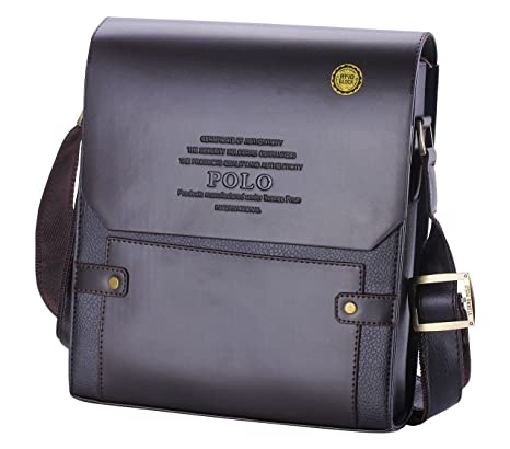 21f1fa0bd35b Videng Polo Men s Leather RFID Blocking Secure Briefcase Shoulder Messenger  Bags